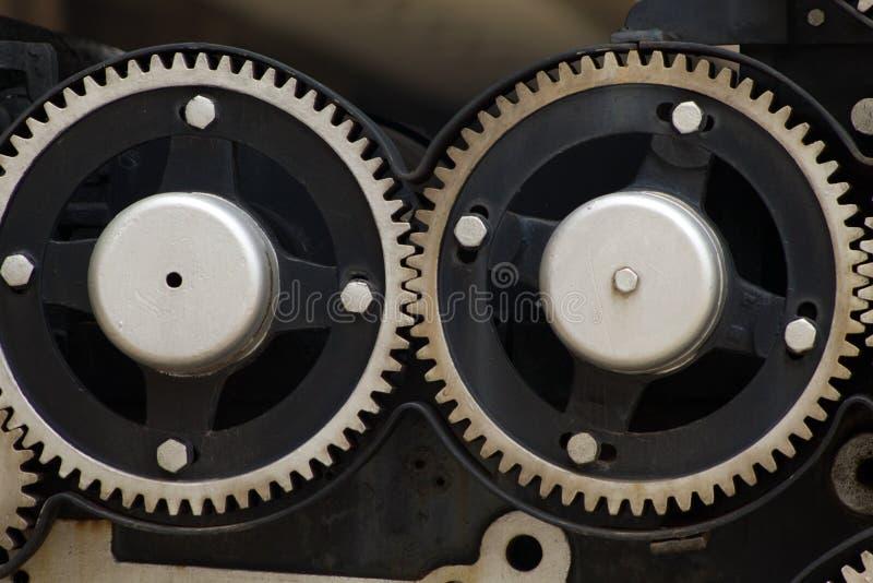 Metalu mechanika przekładni siatka lubi fotografia stock