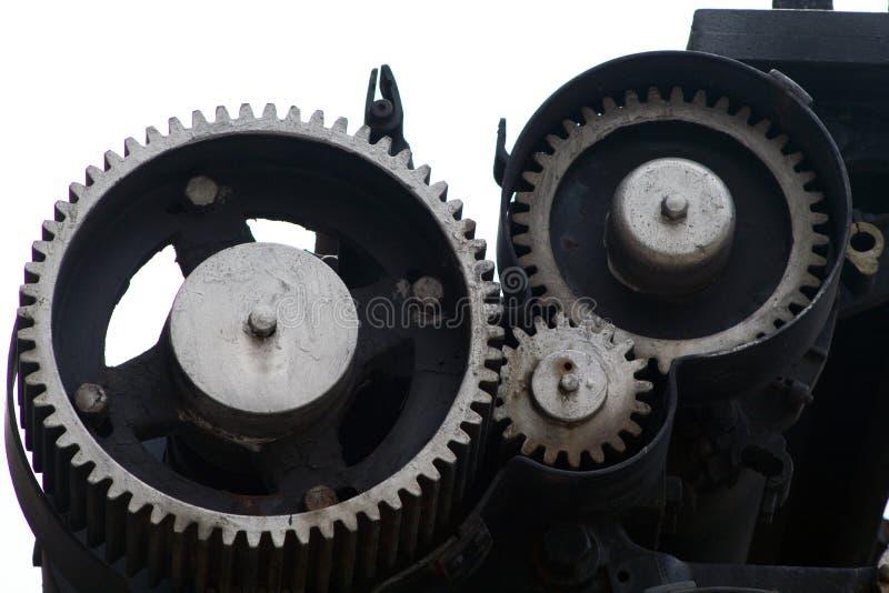 Metalu mechanika przekładni siatka lubi zdjęcie stock