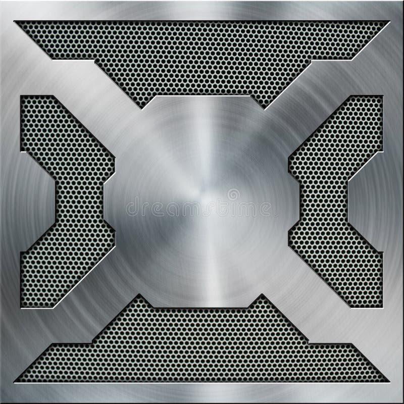 Metalu mosiądza rama ilustracja wektor