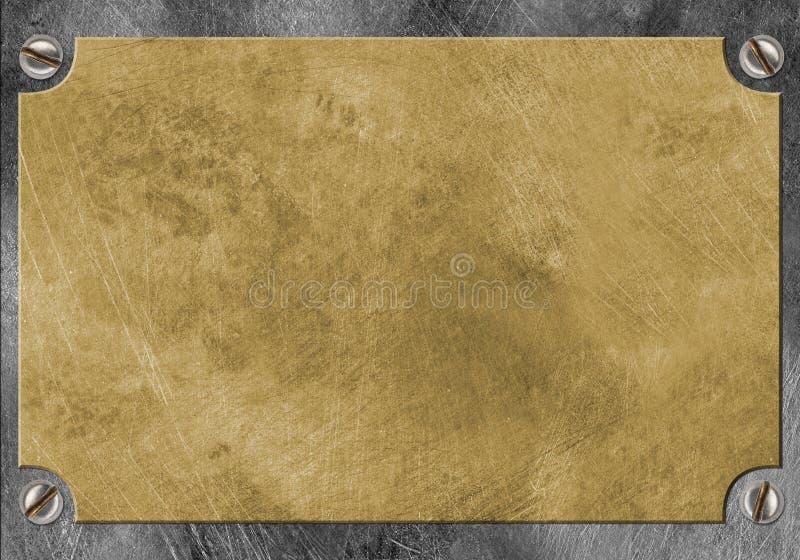 metalu mosiężny kolor żółty fotografia stock