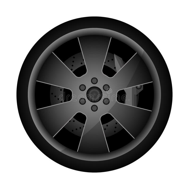 Metalu obręcza auto ikona ilustracja wektor