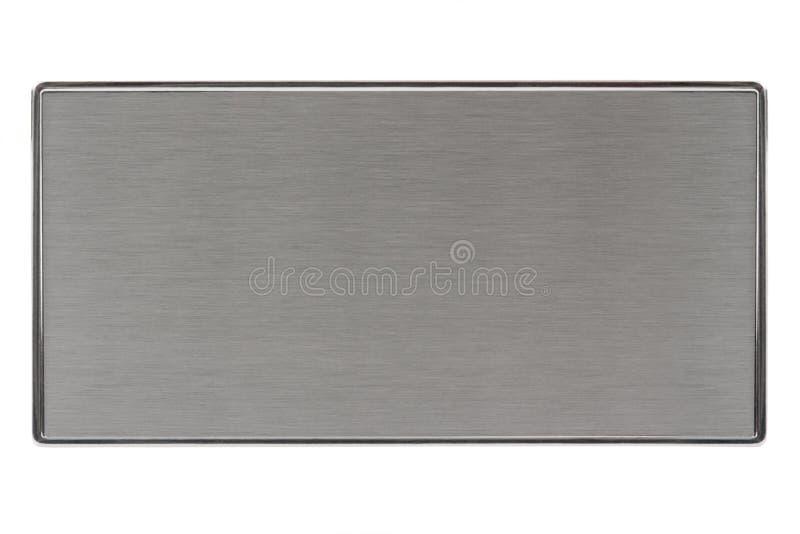 metalu oczyszczony talerz zdjęcie stock