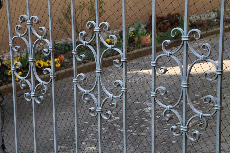 Metalu ogrodzenie fotografia royalty free