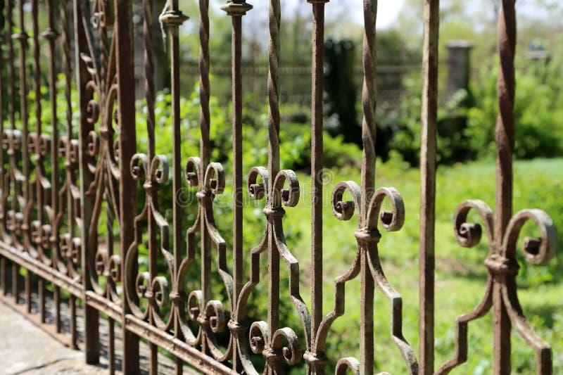 Metalu ogrodzenie obrazy royalty free