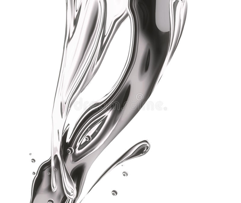 metalu pluśnięcie ilustracja wektor