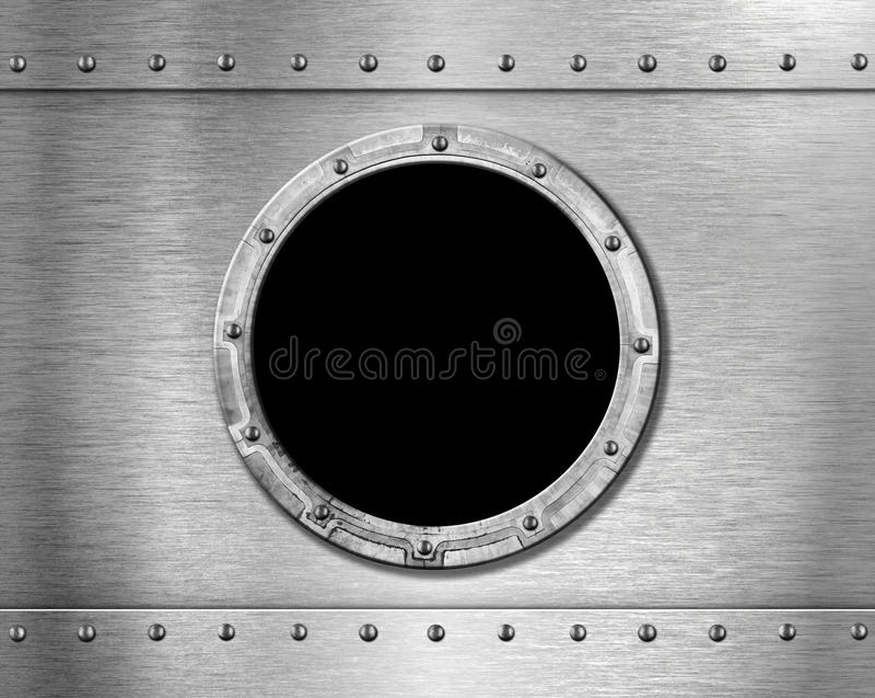 metalu porthole statek obrazy stock