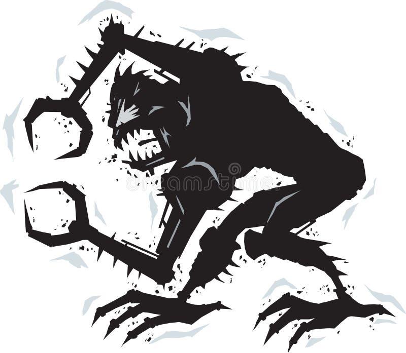 Metalu potwór ilustracja wektor