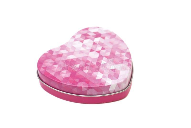 Metalu pudełko w kształcie serce zdjęcia royalty free