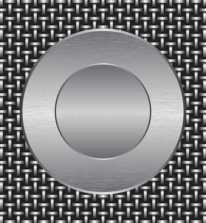 metalu rusztowy talerz ilustracja wektor
