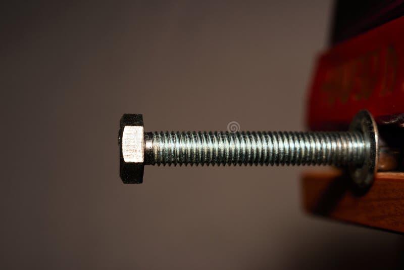 Metalu rygiel zaciska w rozpuscie obrazy stock