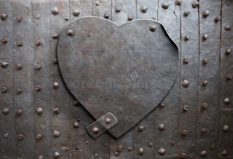 Metalu serce obrazy royalty free