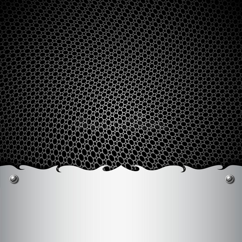 Metalu stali nierdzewnej talerza tła ilustracji