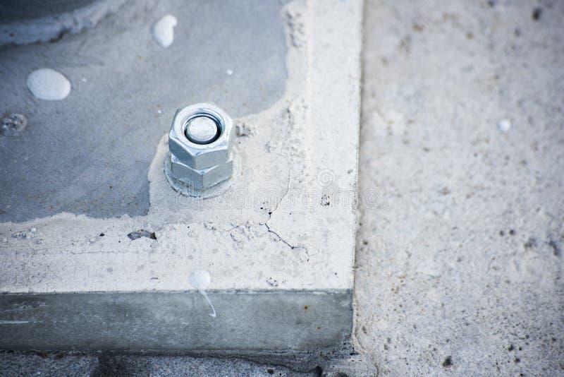 Metalu stojak czmychający betonować zdjęcie stock