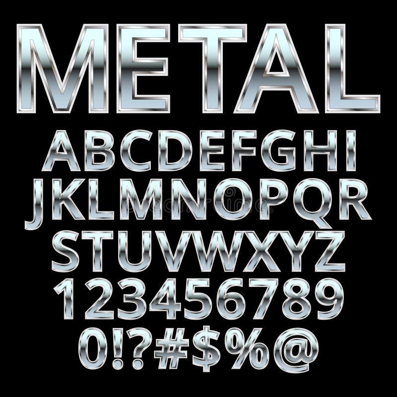 Metalu stylowy abecadło ilustracji