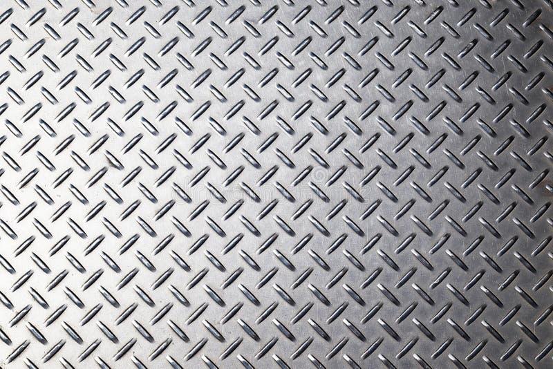 Metalu tła tekstura Diamentu talerz zdjęcia stock