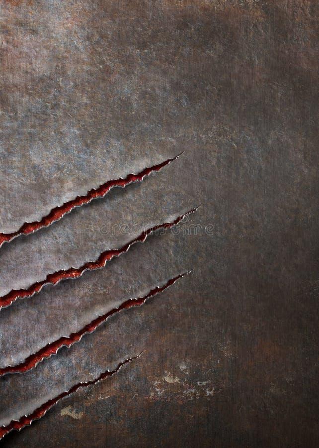Metalu tło drapający bestia pazura ocenami royalty ilustracja