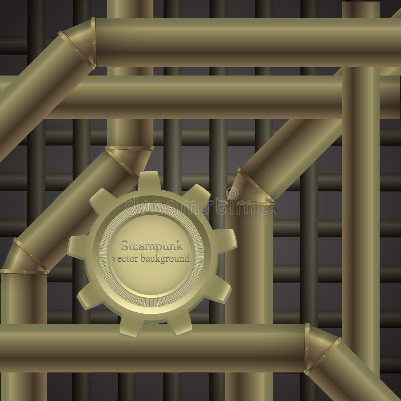 Metalu tło w steampunk ilustracji