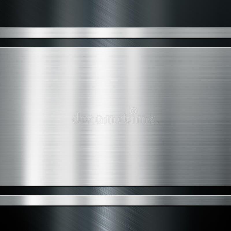 Metalu tło z oczyszczoną stalową lub aluminiową 3d ilustracją royalty ilustracja