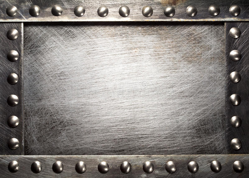 Metalu talerz obraz royalty free