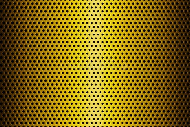 Metalu talerz Zakrywający z liniami Kółkowe dziury świadczenia 3 d royalty ilustracja