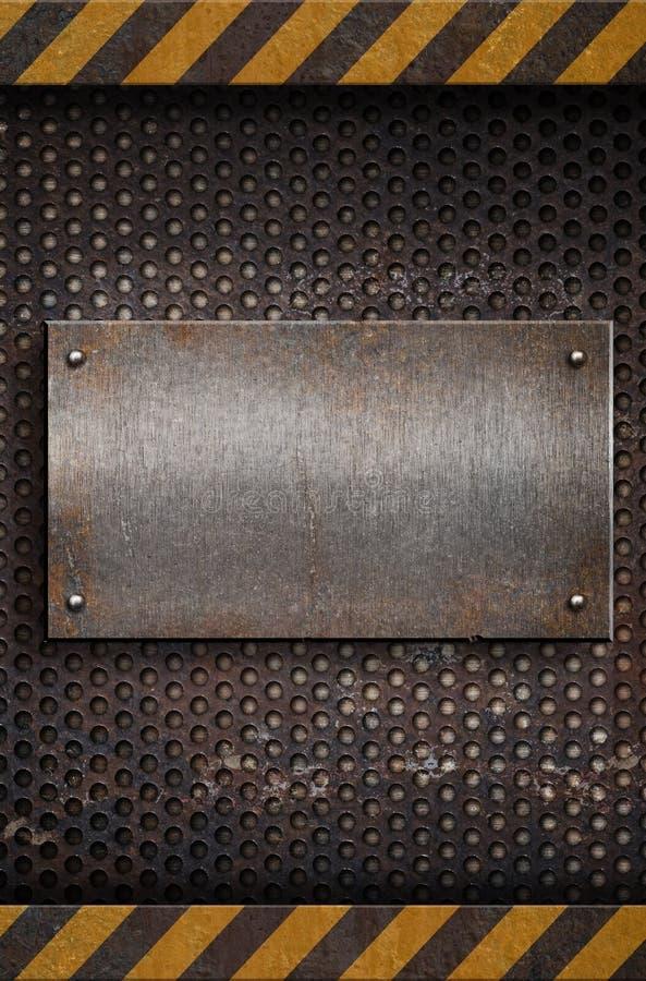 metalu talerza szablon zdjęcia stock