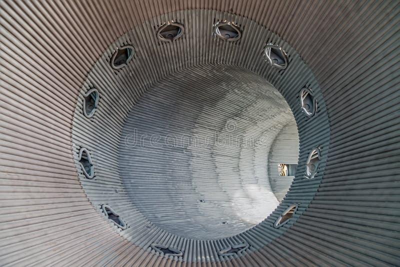 Metalu tunel fotografia stock
