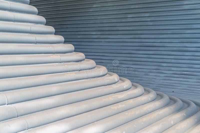 Metalu tunelowy szczegół obraz stock