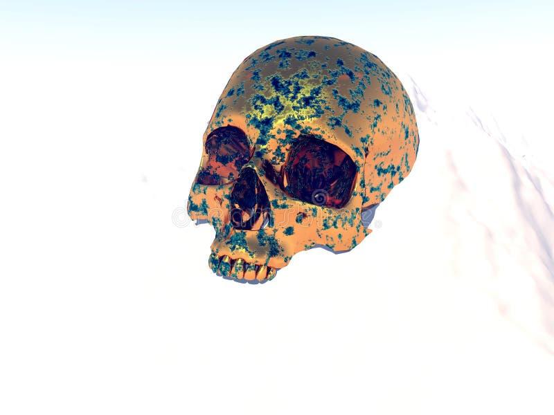 Metalu Wojny Czaszka ilustracja wektor