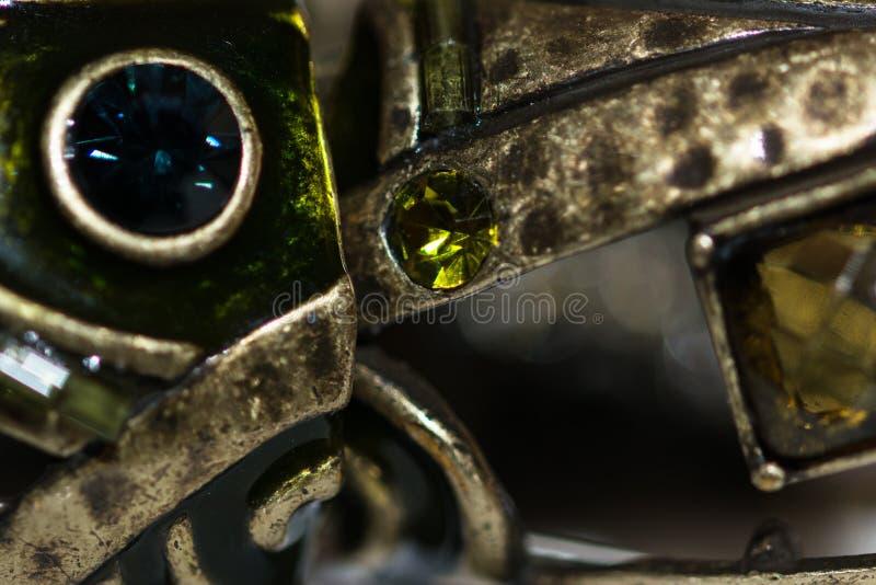 Metalu & zieleni klejnoty fotografia royalty free