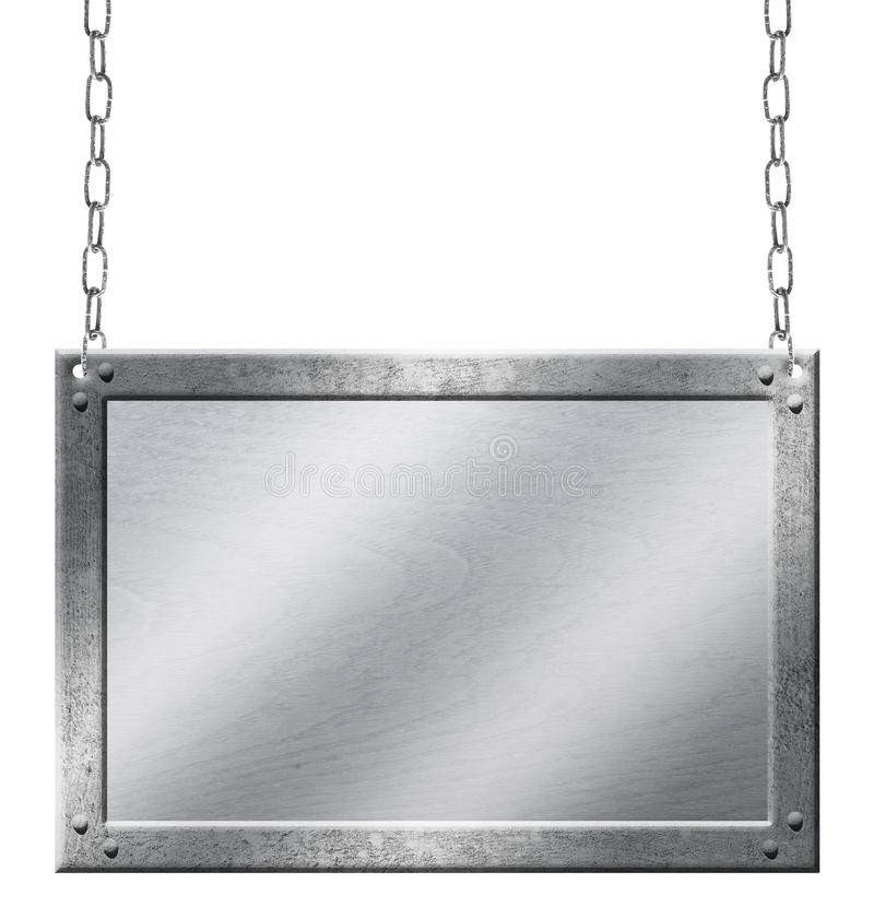 Metalu znaka osłony drewnianego łańcuchu krawat stary obraz royalty free
