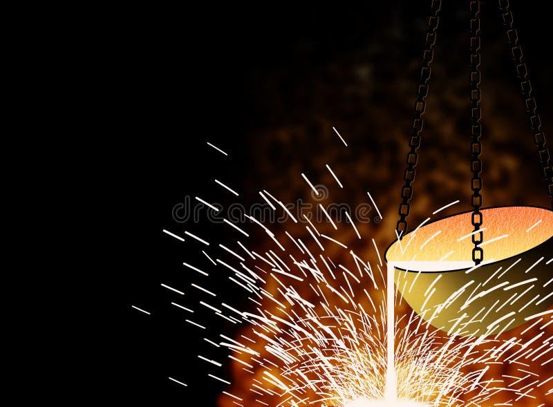 Metalurgia ilustração do vetor