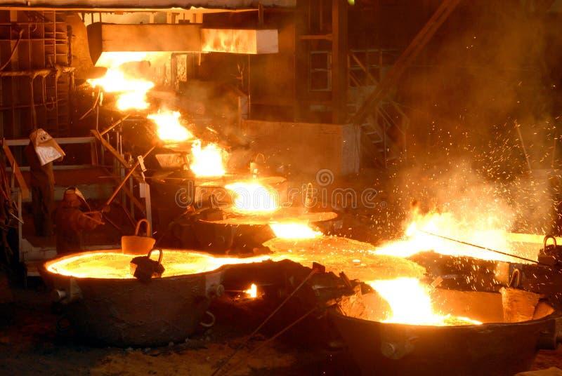 Metalurgia industrial foto de stock
