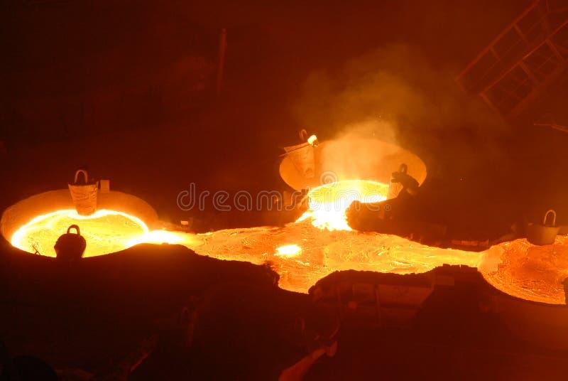 Metalurgia industrial imagenes de archivo