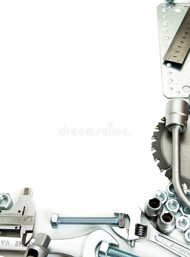 metalwork Regla, llave, tornillo y otros herramientas imagenes de archivo