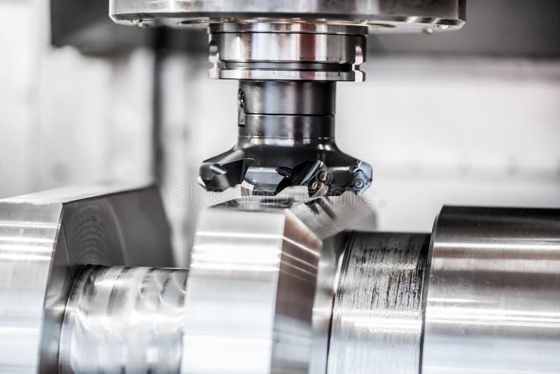 Metalworking CNC mielenia maszyna fotografia royalty free