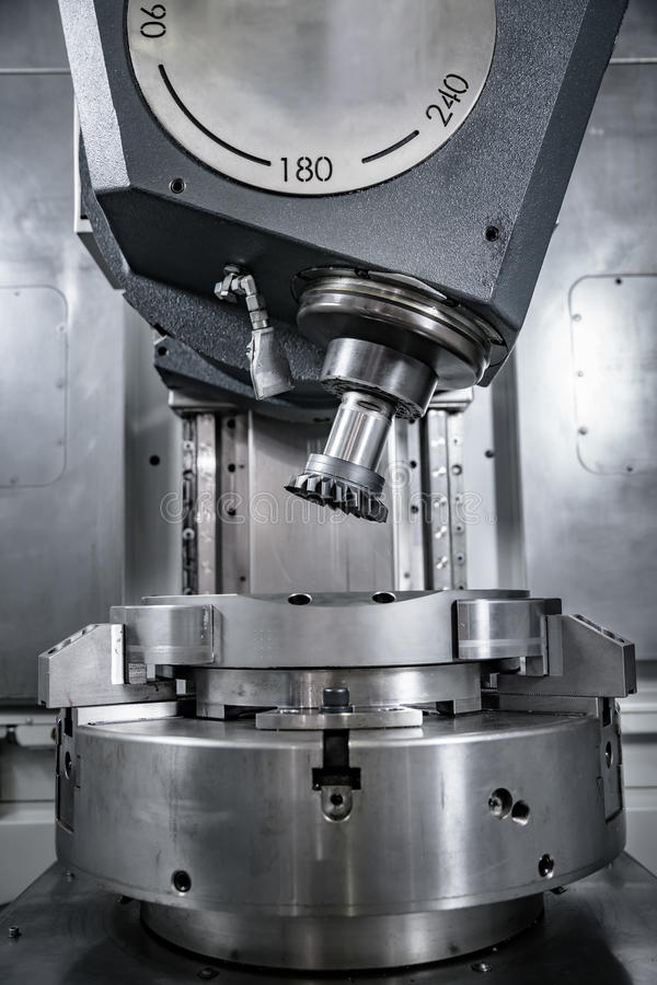 Metalworking CNC milling machine. royalty free stock photos