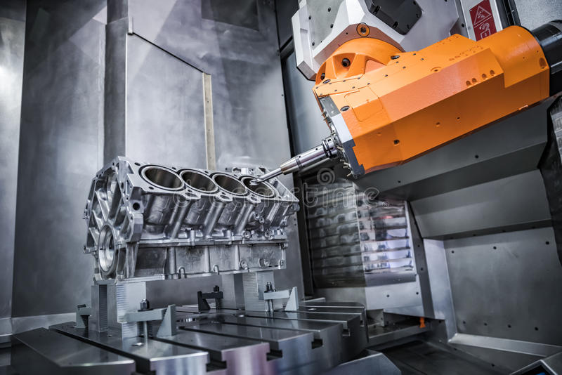 Metalworking CNC milling machine. royalty free stock images