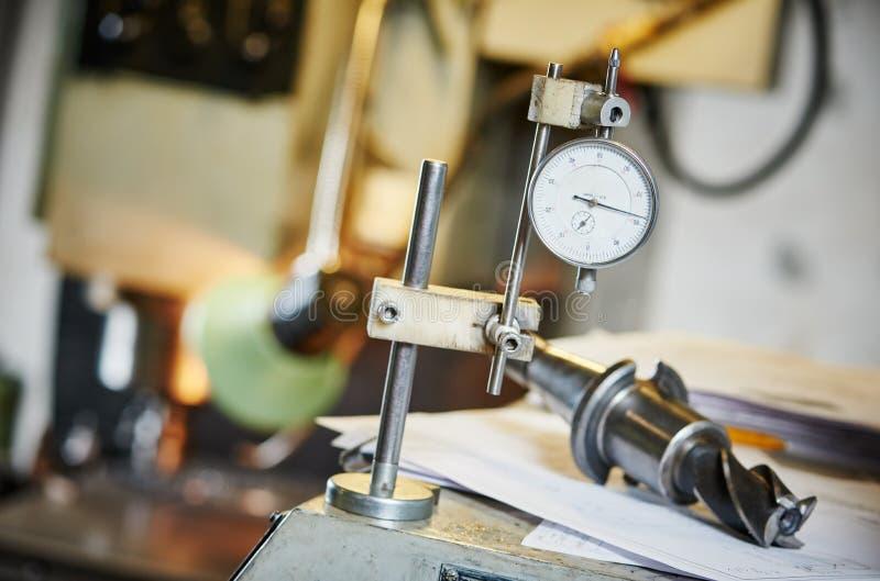 Metalworking i pomiar przemysłowy pomiarowy kierowniczy czujnik obraz royalty free