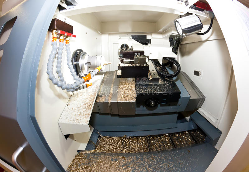 metalworking lathe стоковые фото
