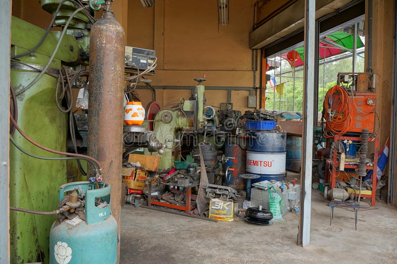 Metalworking machines stock photos