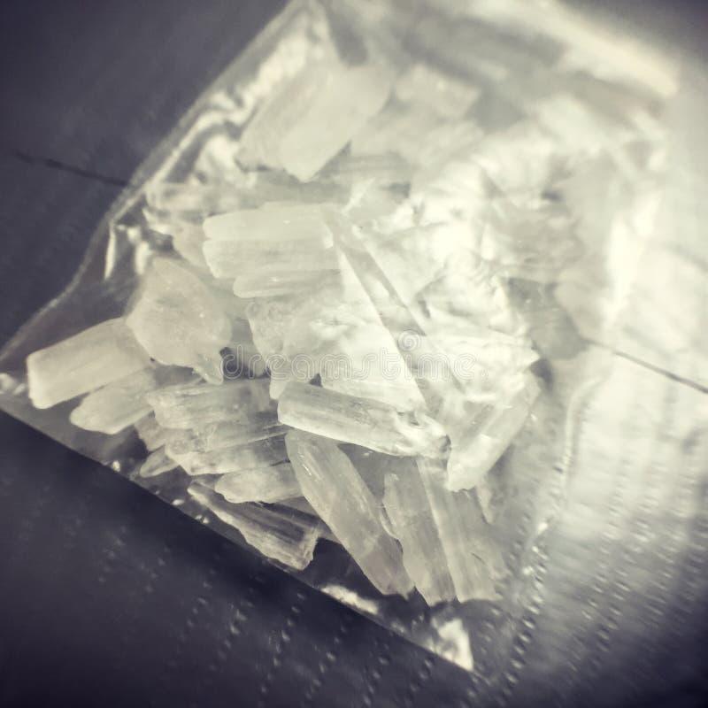 metamfetamina fotografia stock