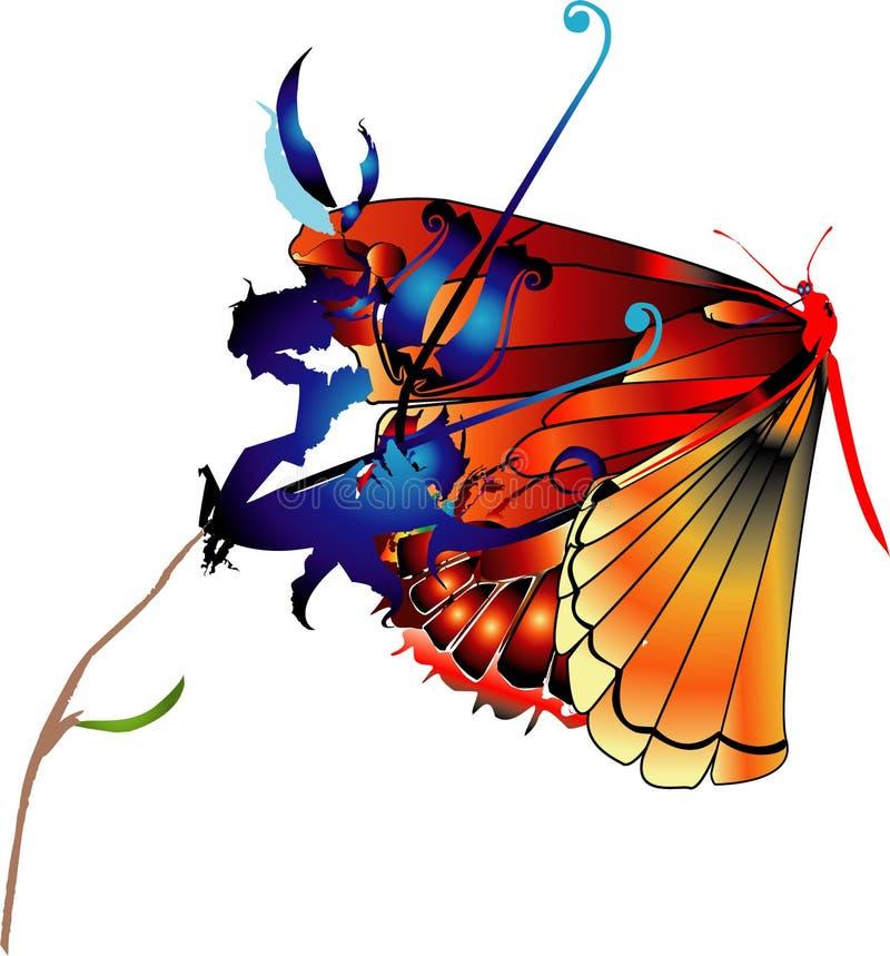 Metamorphosis 1 vector illustration