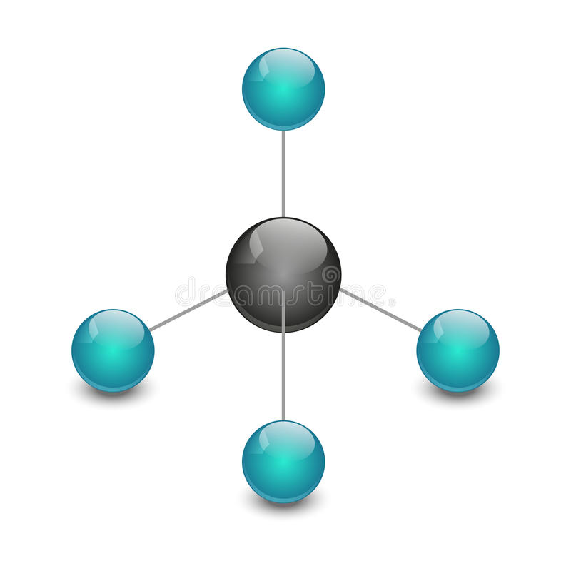 Metan royalty ilustracja