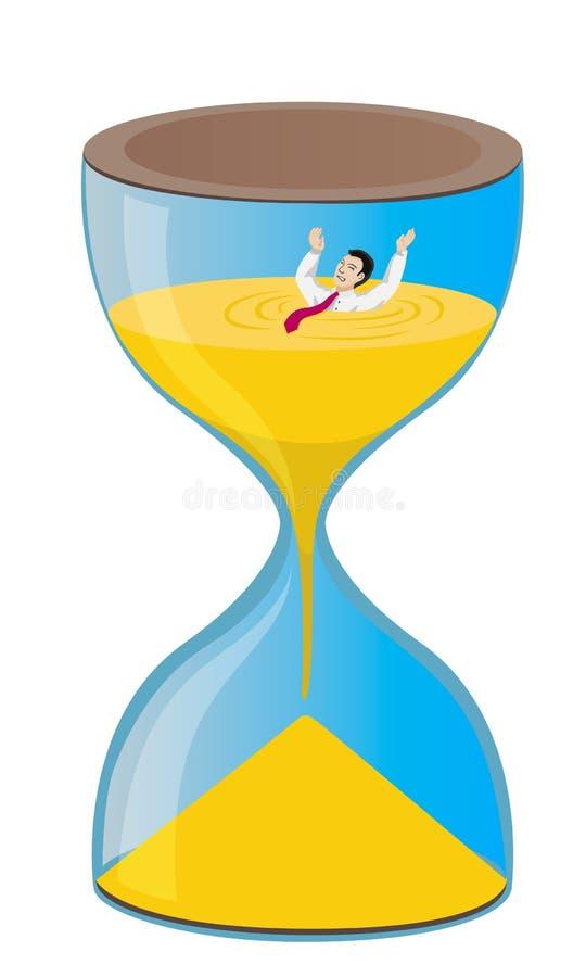 Metapher für den Zeitmangel stock abbildung
