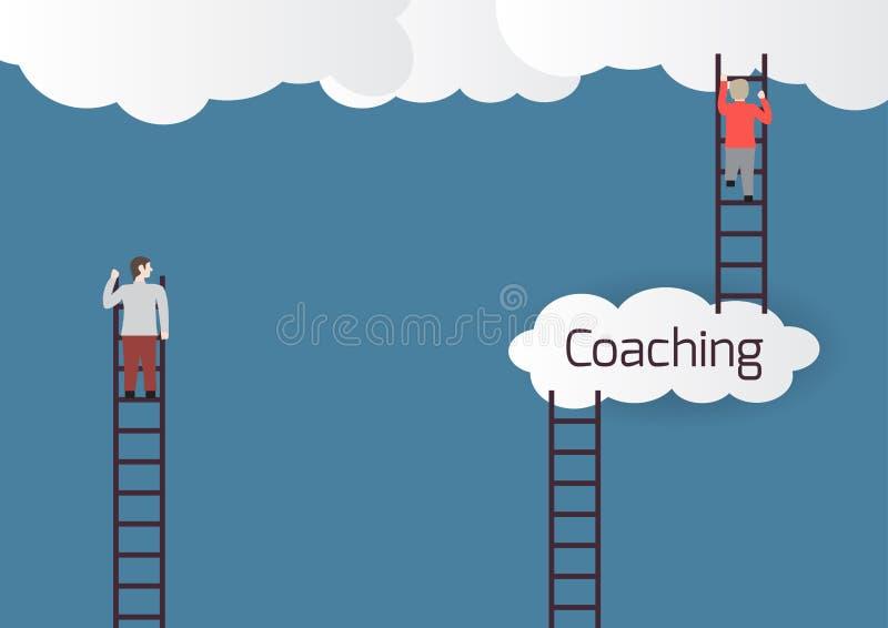 Metaphor about coaching. royalty free illustration