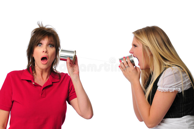 Download Metaphor Showing Communication Between Generations Stock Photo - Image of relationship, mother: 5270204