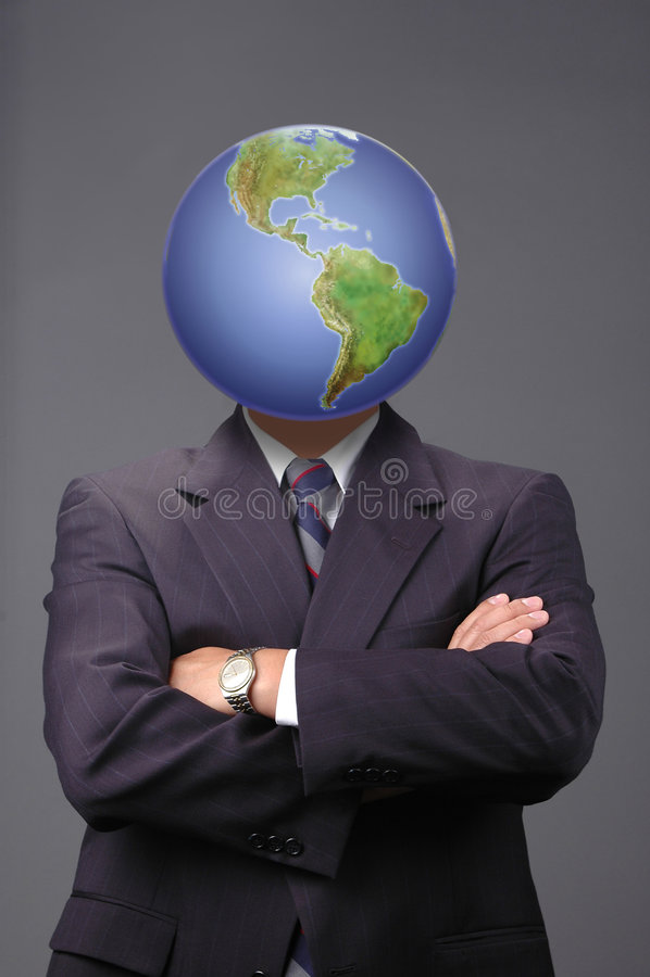 Metaphore d'affaires globales photos stock