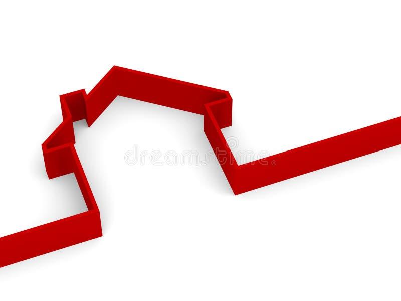 Metaphore da casa ilustração royalty free