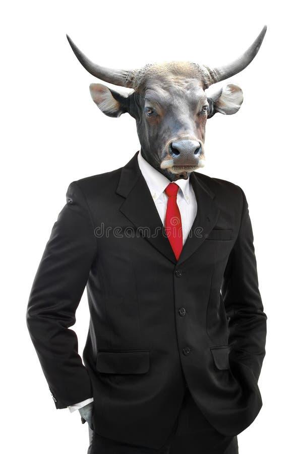 Metaphore do conceito forte do homem de negócios imagens de stock