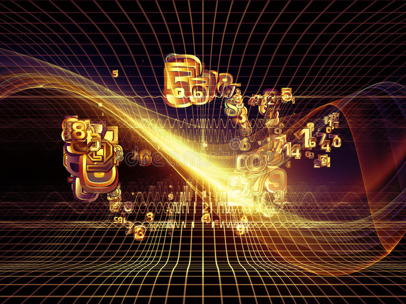 Metaphorical Fractal Realms Royalty Free Stock Photography
